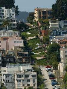 A zig-zagging life, a zig-zagging story. Lombard Street, San Francisco.